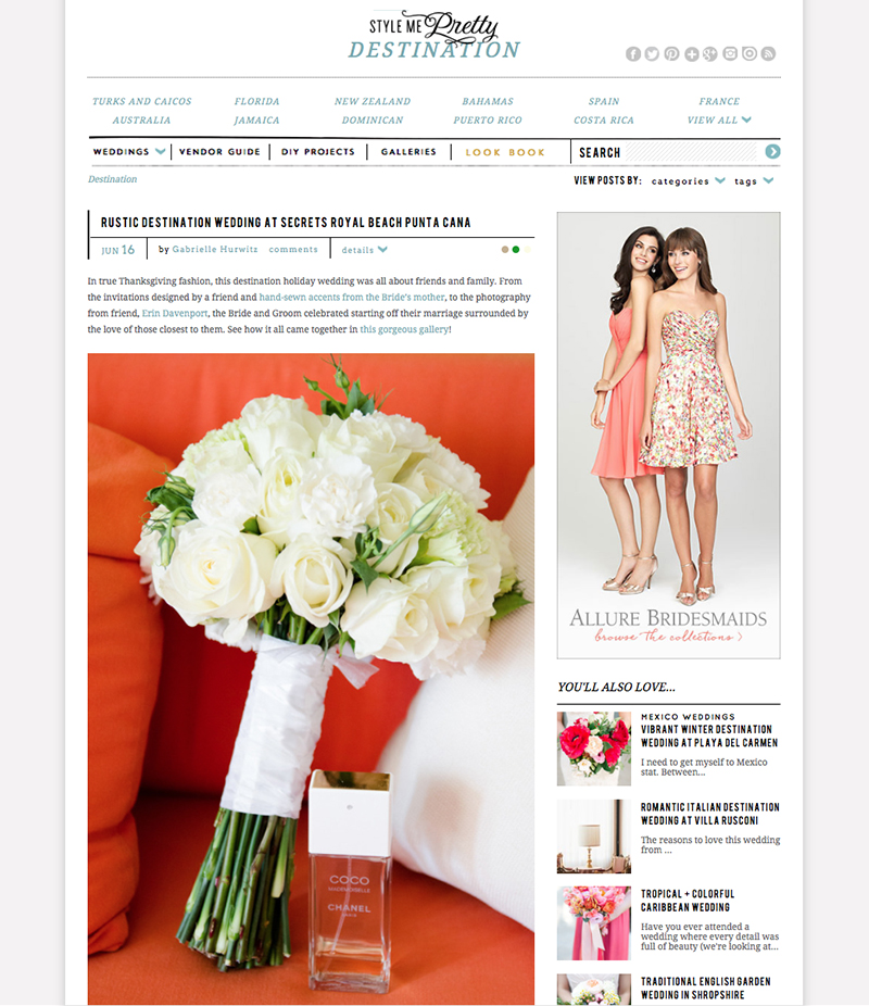 Featured On Style Me Pretty Erin Davenport